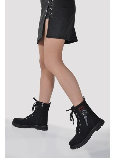 Vizon Ayakkabı Bot Siyah